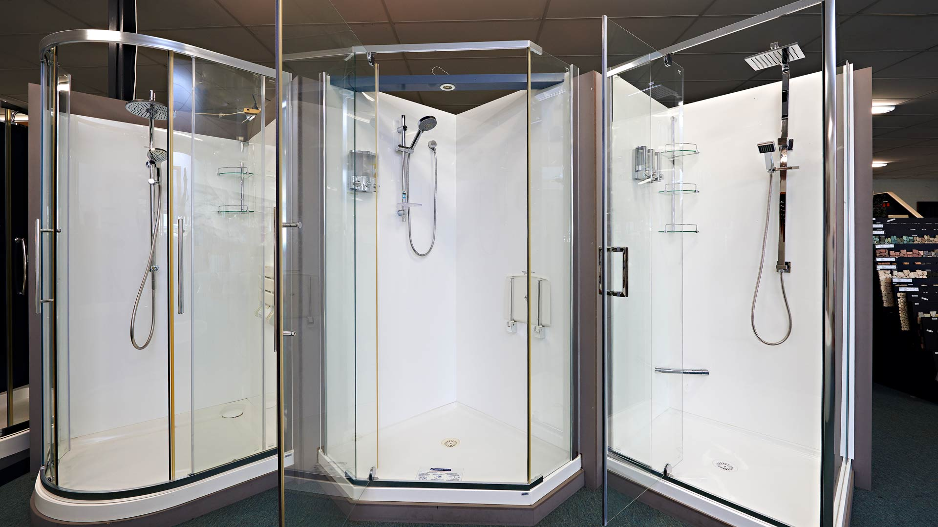 Showers at Bathroom Decor & Tiles Albany